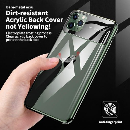 For iPhone 11 Pro Max Case Luxury Mirror Glass Phone Case i Phone X XS XR MAX ProMax Shockproof Back Cover For iPhone 7 8 Plus