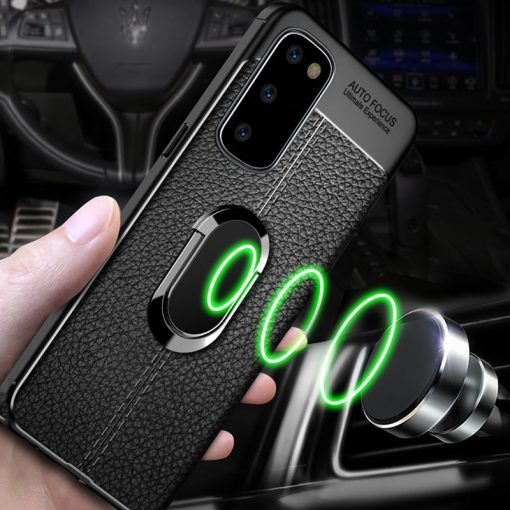 For Samsung Galaxy S20 S10 S9 S8 S7 edge Plus Ultra lite Case Magnetic Ring Bracket Cover For Samsung note 20 10 9 8 plus Case